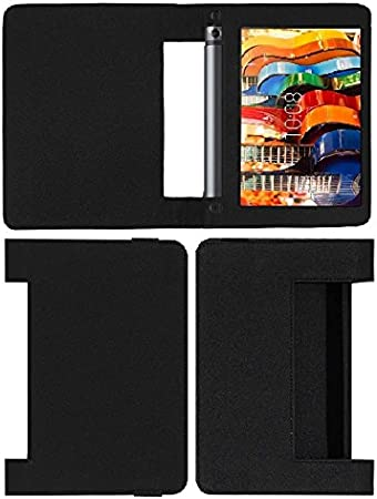 Colorcase Tablet Flip Cover Case for Lenovo Tab 3 Yoga 8.0  YT3 850F     Black  Cases   Covers