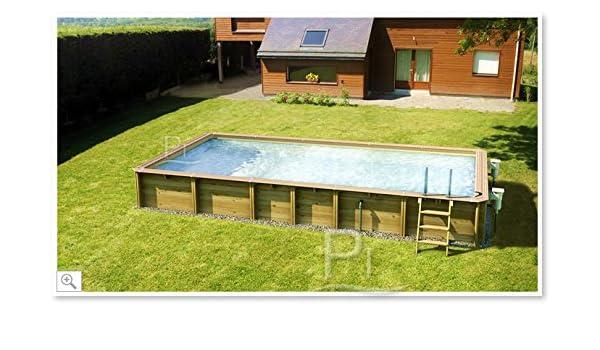 Piscina fuoriterra de madera Jardin Carre 6 x 4: Amazon.es: Jardín