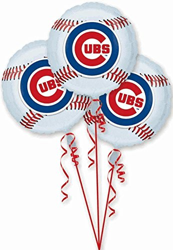 Chicago Cubs Foil Party Balloons - 3 Ct ()