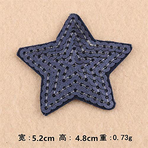 Stars Squins Mbroidrd Patchs Iron On Sw On Moti Appliqus Abric Clothing Hat Bag Sho Mbroidry Accssory 10 Pcs ()