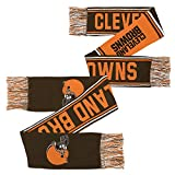 NFL Youth Boys Scarf-Brown Suede-1 Size, Cleveland Browns