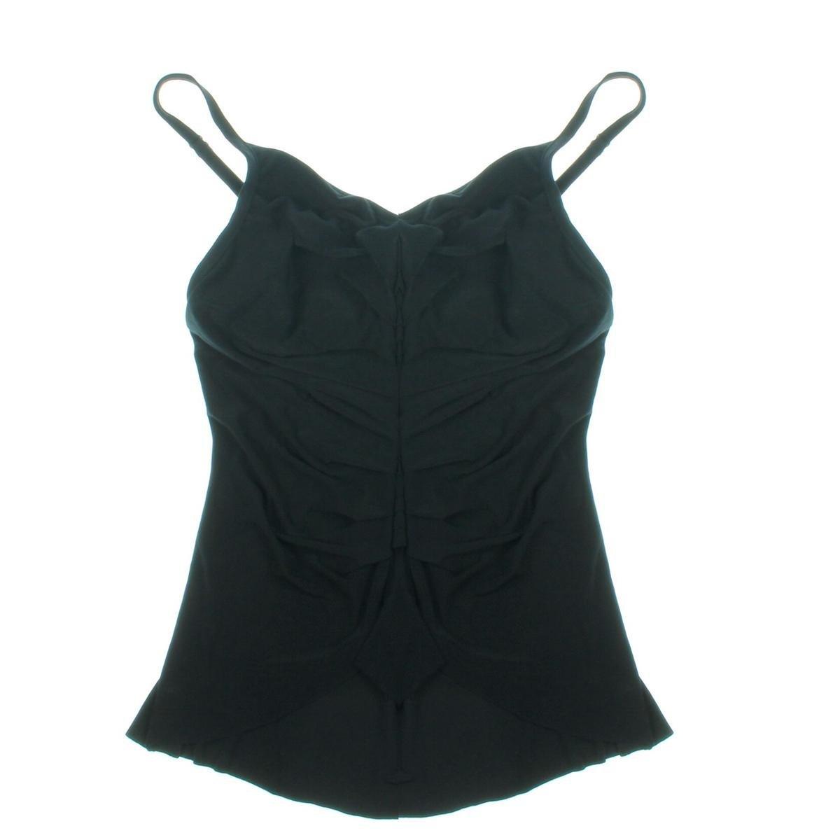 41b1171194e4e Magicsuit Women's Solid Elle Tankini Top Black Swimsuit Top 16 at Amazon  Women's Clothing store:
