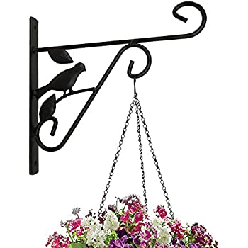 Amazing Amagabeli Hanging Plants Bracket 10u0027u0027 Wall Planter Hook Flower Pot Bird  Feeder Wind Chime