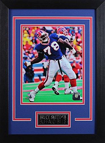 Bruce Smith Buffalo Bills - Bruce Smith Framed 8x10 Buffalo Bills Photo (BS-P3D)