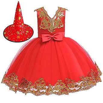 Zolimx Niñas Cenicienta Disfraz Carnaval Traje de Princesa ...