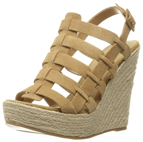 High Wedge Sandal (Chinese Laundry Women's Dance Party Espadrille Wedge Sandal, Camel Suede, 7.5 M US)