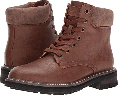 Tommy Hilfiger Men's Horus Combat Boot, Cognac, 11 Medium US by Tommy Hilfiger