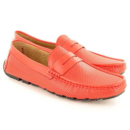 E Slip Shoes On Comodi Mocassini Morbidi Nuovi Red Casual wF0Xt