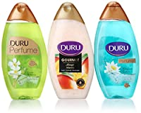 Duru 3 Piece Shower Gel Variety Pack, Mango Ice Cream/Bamboo/Lotus