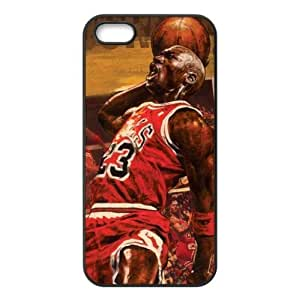 Fashionable Designed iPhone 5/5s TPU Case with Chicago Bulls Michael Jordan Image-by Allthingsbasketball by mcsharks
