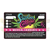 California Prop 215 Medical Marijuana Cannabis Strain Sticker Labels 1.25 x 2'' (100)