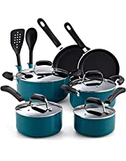 Cook N Home 12-Piece Nonstick Stay Cool Handle Cookware Set