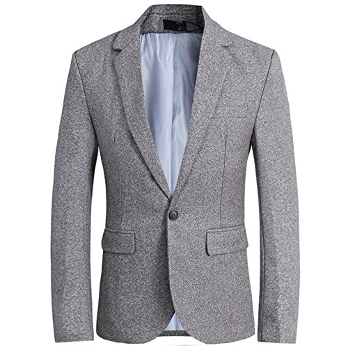 CCXO Men's Slim Fit Stylish Casual One Button Suit Coat Jacket Business Blazers (XXXXL, (Suit Coat)