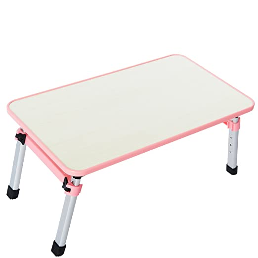 Mesa plegable para ordenador QR, altura ajustable 52 x 30 x 24/32 ...