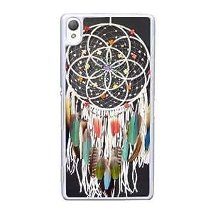 caja del teléfono celular Funda Sony Xperia Z3 funda Blanco atrapasueños hermosas O0U3OV