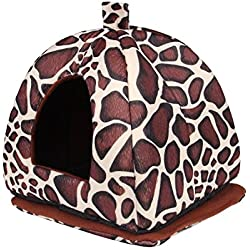 gangnumskythaii Dogs Cat Beds House Furniture Blanket Pad Nest Toy Accessories Supplies Soft House Doggy Warm Lovely Cushion Leopard(TypeA13)