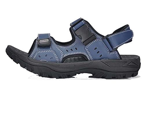 Sandalias para Hombre Sandalias Casuales de Playa Zapatillas para Caminar en la Playa Negro/Azul
