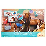 Spirit Feed & Nuzzle Collectible Figurines (2 Pack), Brown