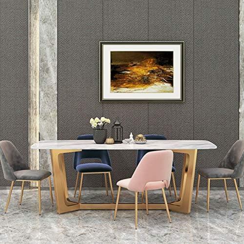 Amrai Salle à Manger Chaises/Fauteuils Modernes Velours Rose Siège rembourré Chaises de Salon Tabouret Loisirs Designer Dossier Chaise Invité, Tailles: 43x46x81cm