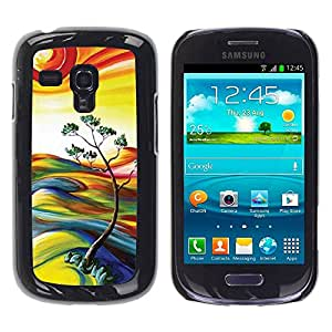 Paccase / SLIM PC / Aliminium Casa Carcasa Funda Case Cover para - Painting Nature Sun Summer Tree - Samsung Galaxy S3 MINI NOT REGULAR! I8190 I8190N