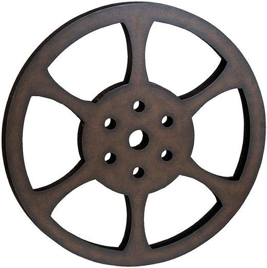 Deco 79 51821 Metal Movie Reel, 32