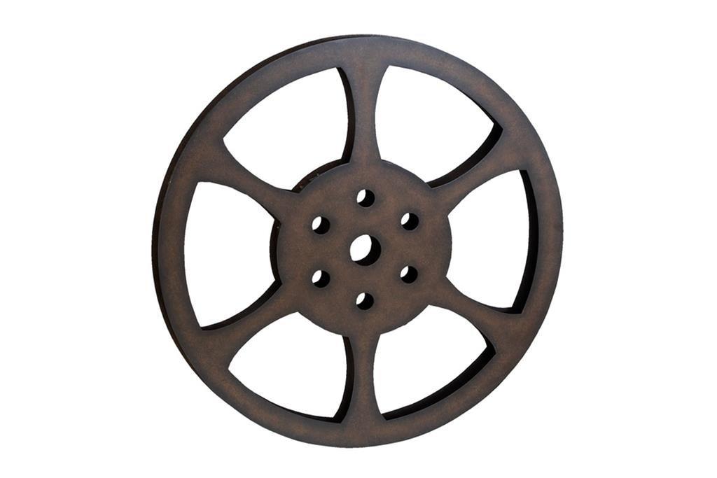 Deco 79 51821 Metal Movie Reel, 32''