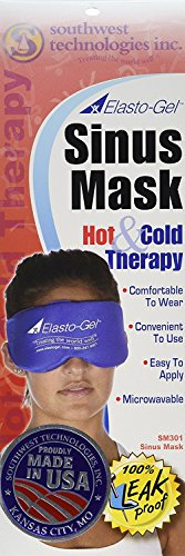 Sinus Mask (Hot Gel Compress for Dry Eye Treatment. Long Lasting Heat Specific for Your Eyes. No More Hot Wash Clothes)