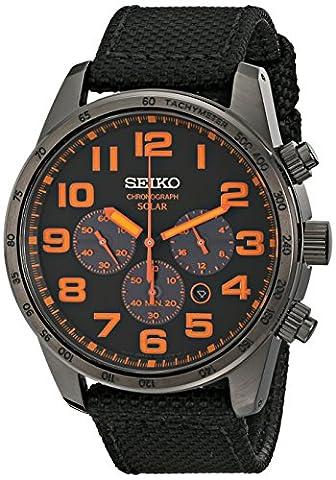 Seiko Men's SSC233 Sport Solar Brushed Stainless Steel Watch (Chronograph Seiko)