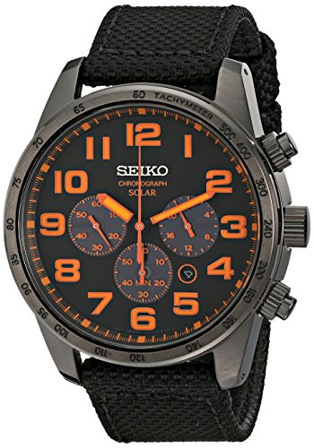 51FyldTGXzL - Seiko Men's SSC233 Sport Solar Brushed Stainless Steel Watch