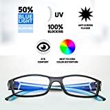 PROSPEK COMPUTER GLASSES: Anti Blue Light Computer Glasses -Teenager. Anti-glare,anti-reflective,anti-fatigue, UV and Computer/TV Electromagnetic Radiation Protection, Anti Fog, Scratch Resistant