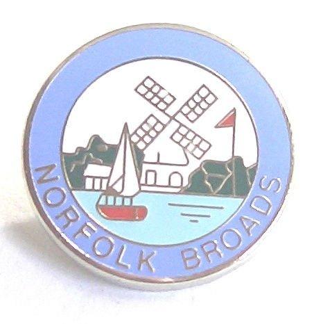 Norfolk de condado del de El Norfolk Suffolk Broads broche la insignia nfzgfWq67P