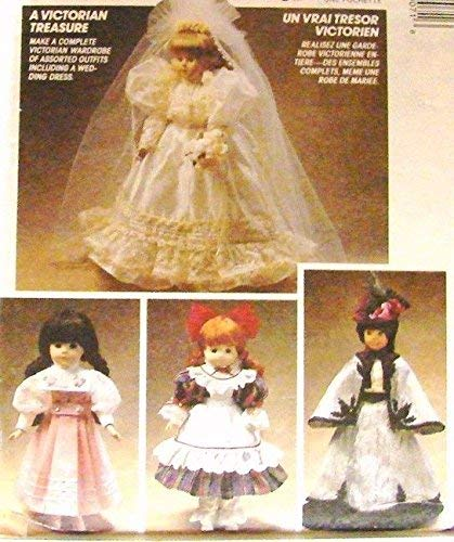 NEW McCalls 5907 SEWING PATTERN Victorian Doll Clothes Clothing 13/14/16`` CRAFT supply:just-a-gramma