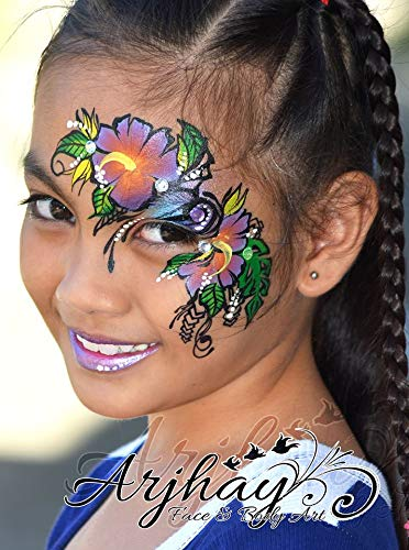 Face Painting Palette with Kryvaline Regular Line Essential Colors 30g Each Made with FDA Approved Materials Enough for Creating 500 Designs by Kryvaline (Image #9)