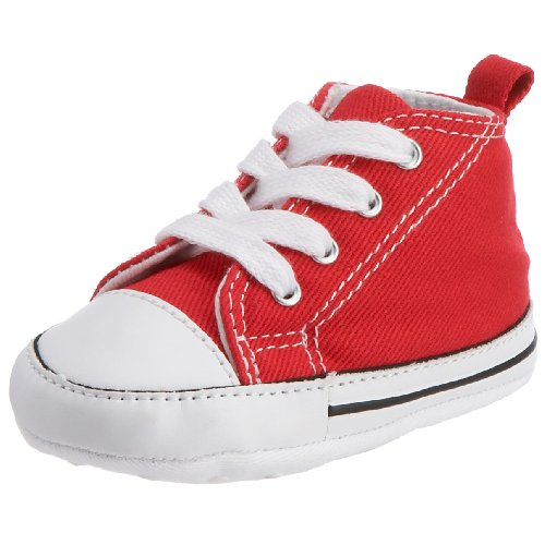 [Converse Baby Boy's Chuck Taylor First Star HI (Infant) - Red - 4 Infant] (Converse All Stars Zappos)