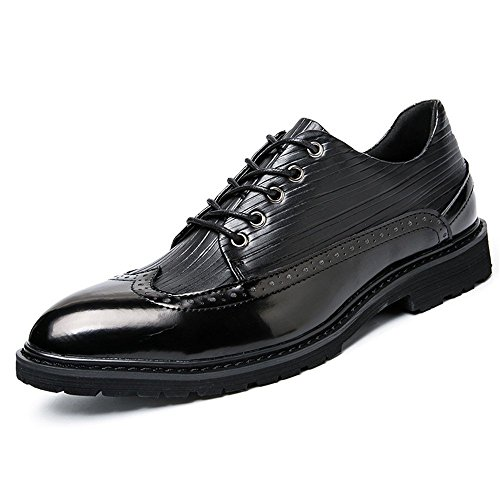Shoes Nero Casual Colorful Oxford Brogue Antique Scarpe British Uomo Cricket da e da Autunno Business Point Primavera w1a7H7nq