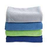 """4 Packs Cooling Towel (40""""x 12""""), Ice"""