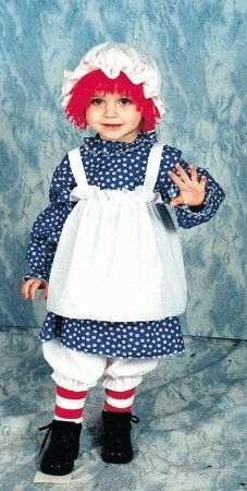 Raggedy Ann Child Costume Small Child Clothes Size 4-6 (Toddler Raggedy Ann Costume)