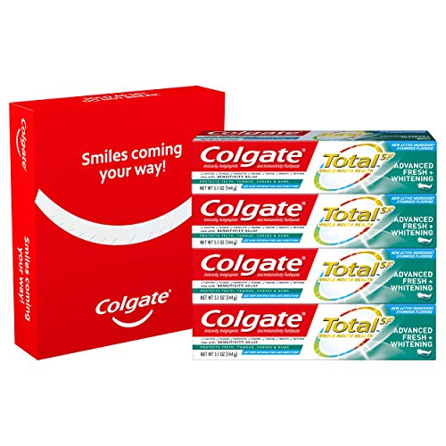Colgate Total Advanced Fresh + Whitening Gel Toothpaste, 4 Count by Colgate (Image #5)
