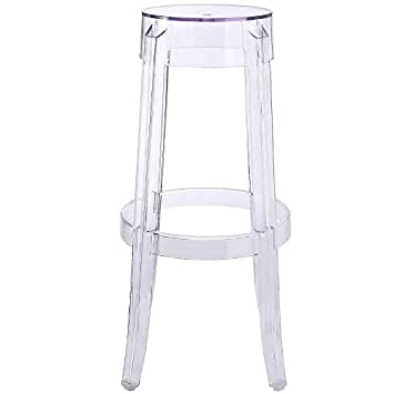 Peachy Amazon Com Clear Acrylic Barstools Contemporary Modern Pabps2019 Chair Design Images Pabps2019Com