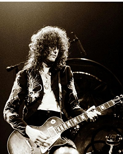 Led Zeppelin - Jimmy Page 1975 8 x 10 Classic Old Photos Vintage Classic Rare Find (Rare Vintage Photo)