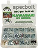 250pc Specbolt Kawasaki KX two stroke Bolt Kit for Maintenance & Restoration of MX Dirtbike OEM Spec Fastener KX60 KX65 KX80 KX85 KX100 KX125 KX250 KX500 60 65 80 85 100 125 250 500