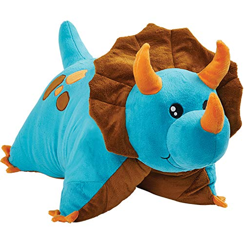 Pillow Pets Triceratops Blue Dinosaur, 18