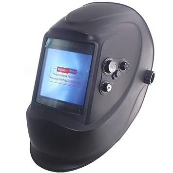 Casco de Soldadura, Auto Darkening DIN5-DIN13 Soldadura de Cortar Casco Máscara Ojos Protección Solar Pantalla LCD Exterior Control Soldadura Máscara: ...