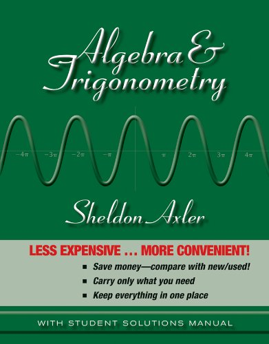 Algebra and Trigonometry 1e Binder Ready Version + WileyPLUS Registration Card