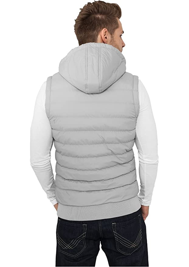 URBAN CLASSICS Small Bubble Hooded Vest TB510 black/white XL: Amazon.de:  Bekleidung
