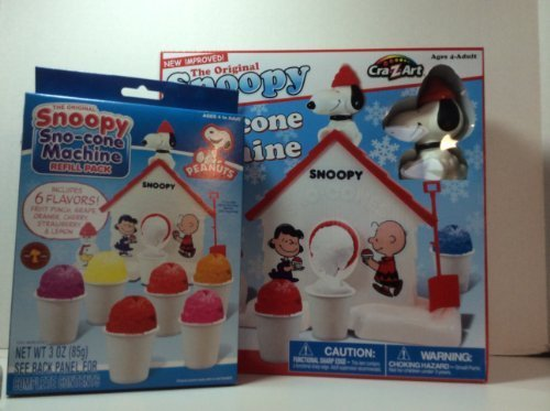 Snoopy Snow Cone Machine and Extra Refill (Snoopy Sno Cone Maker)