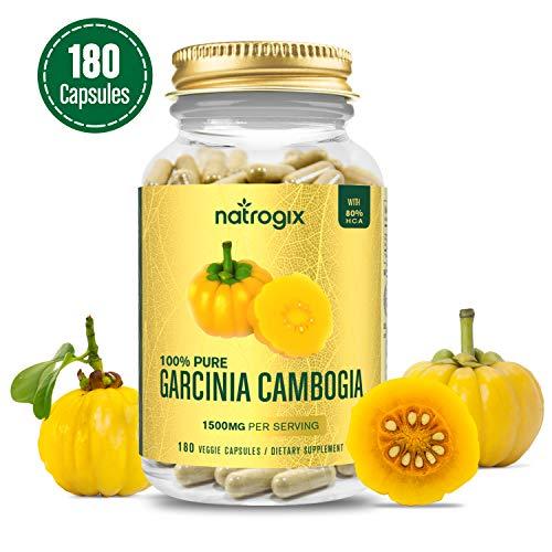 Pure Garcinia Cambogia - 3 Months Supply-Natural Appetite Suppressant - Rapid Fat Burning - Best Weight Loss Supplement - Gluten Free -Vegan Formula-100% Money Back Guarantee