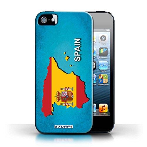 Kobalt® Imprimé Etui / Coque pour Apple iPhone 5/5S / Espagne/Espagnol conception / Série Drapeau Pays