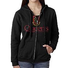 Women Queen's University Hoodie Sweatshirt Black