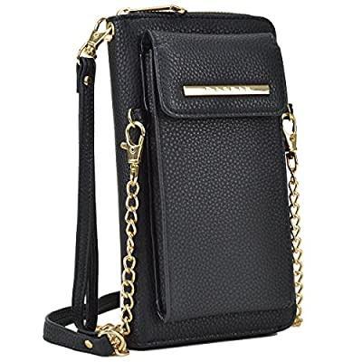 DASEIN All-In-One Crossbody Messenger Bag PU Leather Wallet Purse Single Shoulder Bag Cellphone Pouch (Fit iPhone X 8 7 Plus 6S/6 5S Samsung S8, S7 Edge etc)